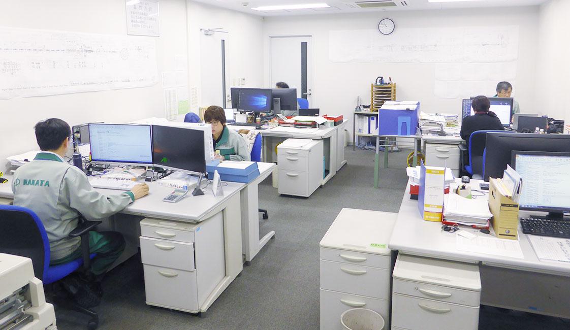 中田製作所の生産部の事務所